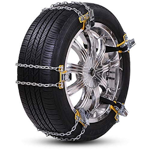 Big Ant Snow Chain Anti-Skid Tire Snow Chains,Winter Tire Chains for Car Adjustable Emergency Snow Chain Fit Tire Width 235-285mm/9.25-11.2