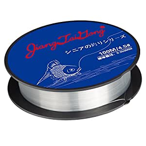 Fishing Line,Superior Monofilament Nylon Fish Line Great Substitute for Fluorocarbon Fishs Line, 100 Meters Abrasion Resistant Fly Fishing Line for Freshwater(Clear)