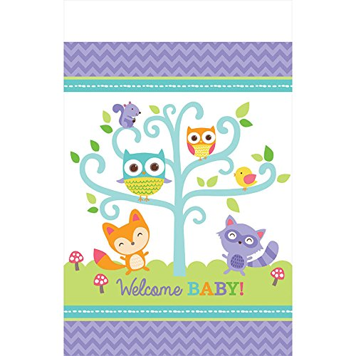 Amscan Woodland Welcome Plastic Tablecover