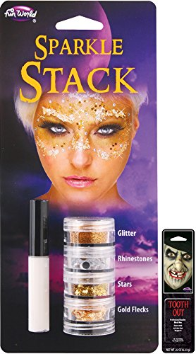 Potomac Banks Sparkle Stack (Gold) with Free Pack of Makeup -
