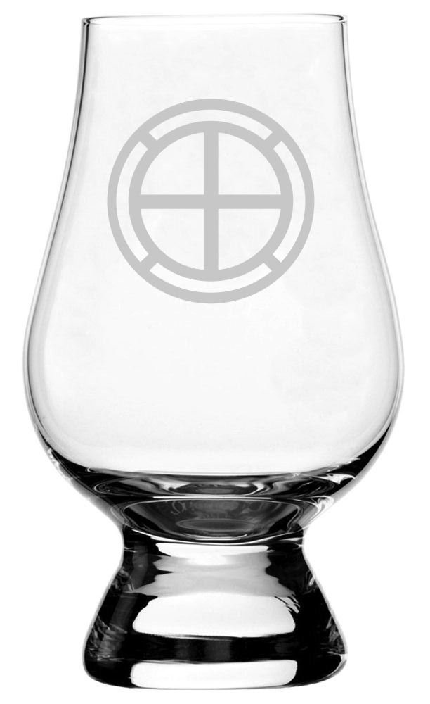 United States Air Force Etched Glencairn Crystal Whisky Glass
