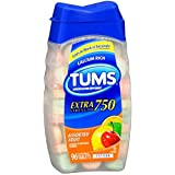 Tums E-X 750 Extra Strength Antacid & Calcium Supplement Assorted Fruit Chewable Tablets 96 ct (Pack of 6)