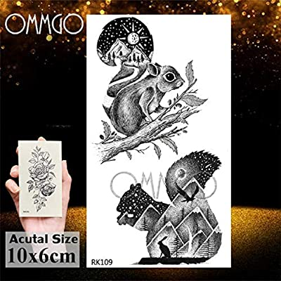 Amor negro minimalista adultos tatuajes temporales pegatina ...