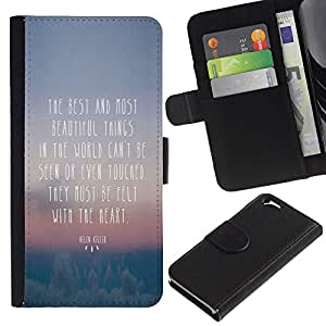 KingStore / Leather Etui en cuir / Apple Iphone 6 / Beautiful Thing Cita corazón fieltro Visto Touched