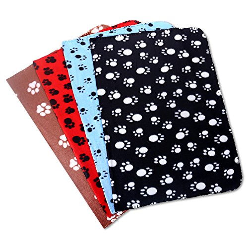 Comsmart-Puppy-Blanket-Warm-Dog-Cat-Fleece-Blankets-Pet-Sleep-Mat-Pad-Bed-Cover-with-Paw-Print-Soft-Blanket-for-Kitties-Puppies-and-Other-Small-Animals