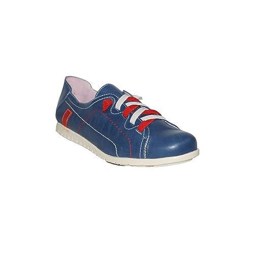PRIMAR SHOES - Zapatillas URBANAS Piel Leonor PS130 Zapatillas Elegantes Casuales Urbanas Verano Moda 2018 Mujer Piel Azul Beige: Amazon.es: Zapatos y ...