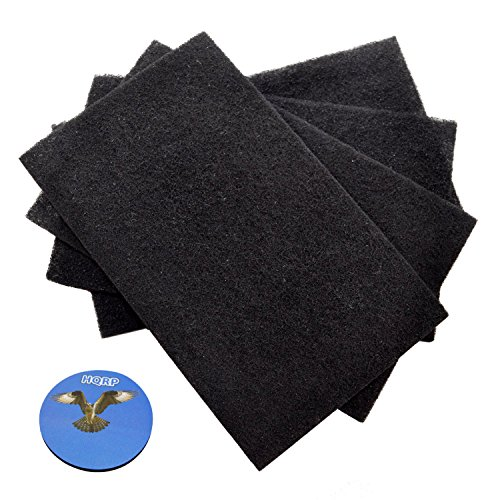 HQRP 4-Pack Carbon Filter for GermGuardian FLT4100 True Hepa Filter E part FLT11CB4 Replacement fits AC4100, AC4150PCA, AC4150BCA Air Purifiers + HQRP Coaster