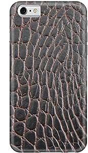 Stylizedd Apple iPhone 6 Premium Slim Snap case cover Matte Finish - Cowhide Leather (Brown-Black) I6-S-176