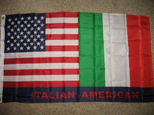(USA Italy Italian American 3x5 Super Polyester Flag)