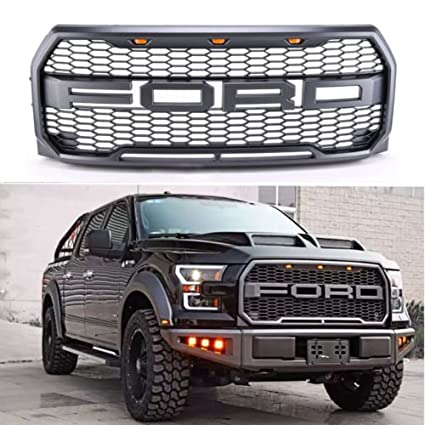 Exoticstore Replacement  Raptor Style Grill Kit For F  Raptor Conversion Letter