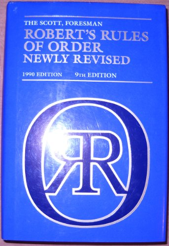 Robert's Rules of Order Newly Revised (9th Edition)