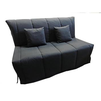 Inside Sofá BZ Convertible FLO Negro 160 * 200 cm Colchón Confort Bultex inclus