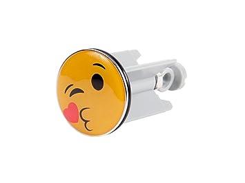 Clapet De Bonde De Lavabo Bouchon Avec Un Décor Smiley Emoji