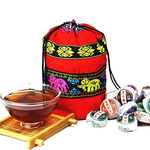 Tea Cakes - Yunnan 220g Pu Erh Tea Cake 1 BAG in 10 Different Flavors Pack of 50pcs