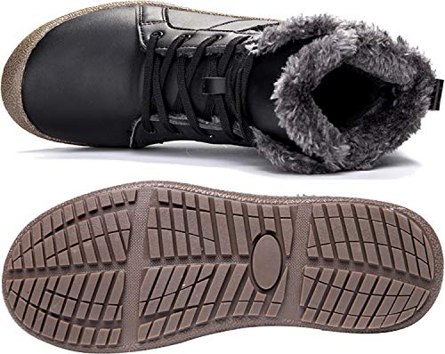 Waterproof Womens Boots Fur Boots Winter F L RUN Booties Snow Ankle for Women black SwRqntUxU