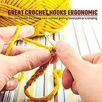 Amazon.com: Juego de 9 agujas de ganchillo ergonómicas para ...
