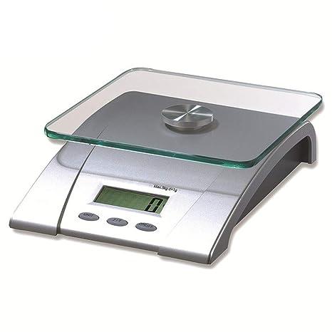 Cucsaist Básculas de Cocina Básculas electrónicas Básculas Digitales Básculas nutricionales chasis Cuadrado con Platos Transparentes Alimentos