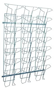 Alba - Expositor de revistas (alambre, A4, 21 compartimentos), color negro