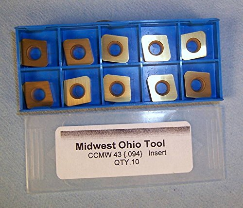 10 PCS MIDWEST OHIO TOOL CCMW 43 .094 INSERT