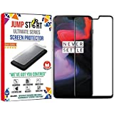 JUMP START Full Coverage Anti-Scratch, Anti-Fingerprint, Bubblefree 3D Protection Tempered Glass Screen Protector for OnePlus(Black)