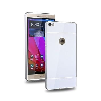 YULEAN® Huawei P8 Max Funda, Duro Híbrido Carcasa Metal ...