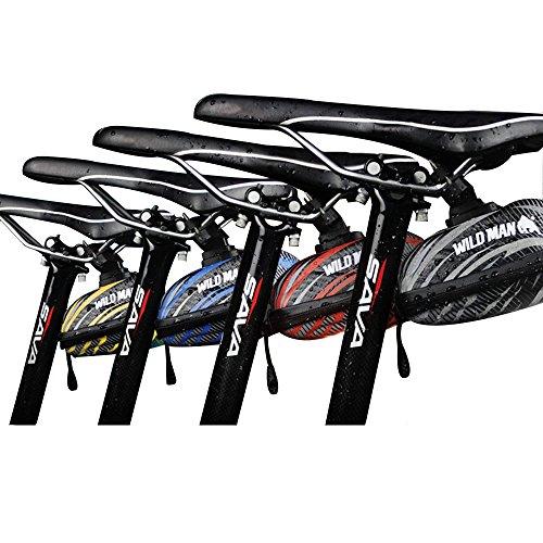 Iapetus Bike Bag Waterproof Bike Seat Pack & MTB Cycling Eva Bag Saddle with Muti-Colors,Big Enough for Bicycle Repair Tool,Reflective Material Ensures Safety (Red) (Mtb Bag)
