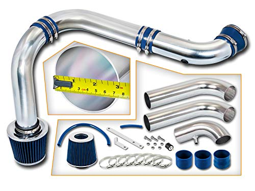Rtunes Racing Cold Air Intake Kit + Filter Combo BLUE Compatible For 03-08 Dodge Ram 1500 2500 3500 Hemi 5.7L (3 Piece)