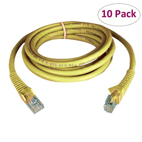 10-Pack 3-Ft Yellow Cat6 RJ-45 Male to RJ-45 Male Network Cable N201-003-YW Tripp Lite