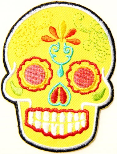 Skull Ghost Day Of The Death Love Never Die Rockabilly Lady Rider Hippie Punk Tatoo Jacket T-shirt Patch Sew Iron on Embroidered Sign Badge -