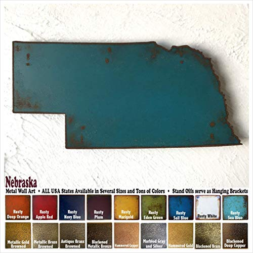 Nebraska metal wall art - Choose 10