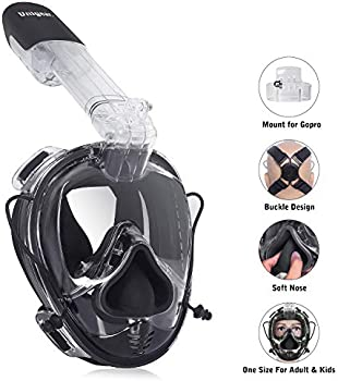 Unigear Full Face Snorkel Mask with Detachable Camera Mount