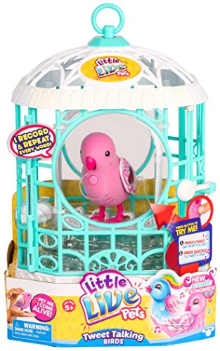 Little Live Pets Bird with Cage - Ruby - Electronic Toy Bird