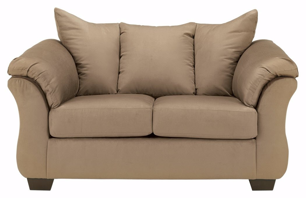 Signature Design by Ashley - Darcy Contemporary Loveseat, Mocha