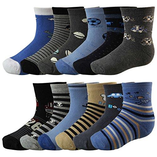 4 Paar Kinder Thermo Socken mit Innenfrottee in tollen Farben und in 3 Größen - Qualität von Lavazio®, Größe:27-30, Farbe:mehrfarbig Jungen
