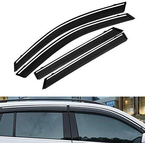 Car D/ÉFLECTEURS Compatible Avec Fo-rd Kuga 2017 2018 2019 D/éflecteurs Porte Lat/érale Vent Pare-pluie Shields Vent Guard Couvre Protecteur Externe Fit 4Pcs
