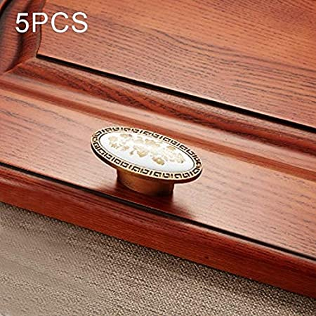 Durable 5PCS 5008 manija del gabinete de aleación de zinc manija ...