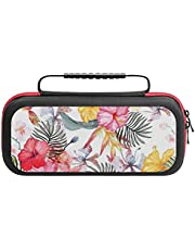 Portable Carrying Case for NS and Accessories Colorful Flower 2