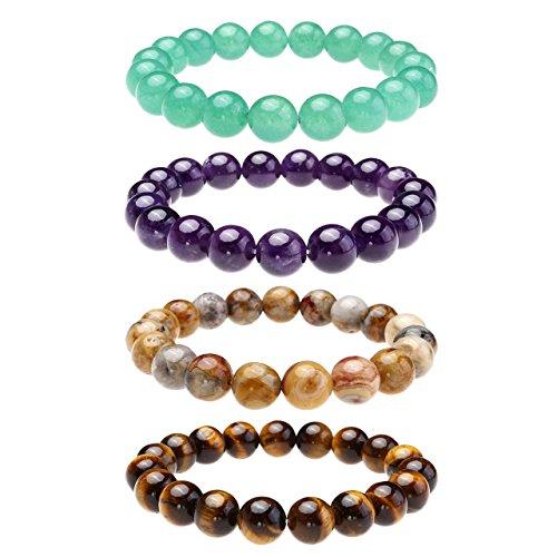 Gemstone Bead Bracelet Amazon Com