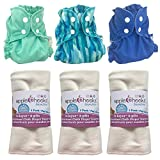 AppleCheeks Cloth Diaper Starter Package (Size 1 (7-20 lbs), Color Mix 1)
