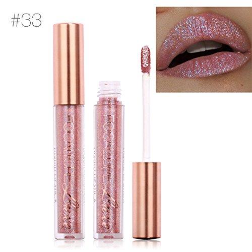 TOPBeauty Fashion Women Glitter Lip Makeup Waterproof Lip