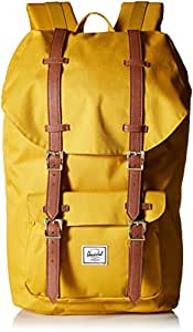 Herschel Supply Co. Little America Backpack, Arrowwood/Tan Synthetic Leather (yellow) - 10014-02074-OS