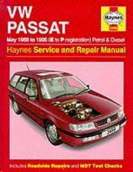 VW Passat Petrol and Diesel (May 1988-96) Service and Repair Manual