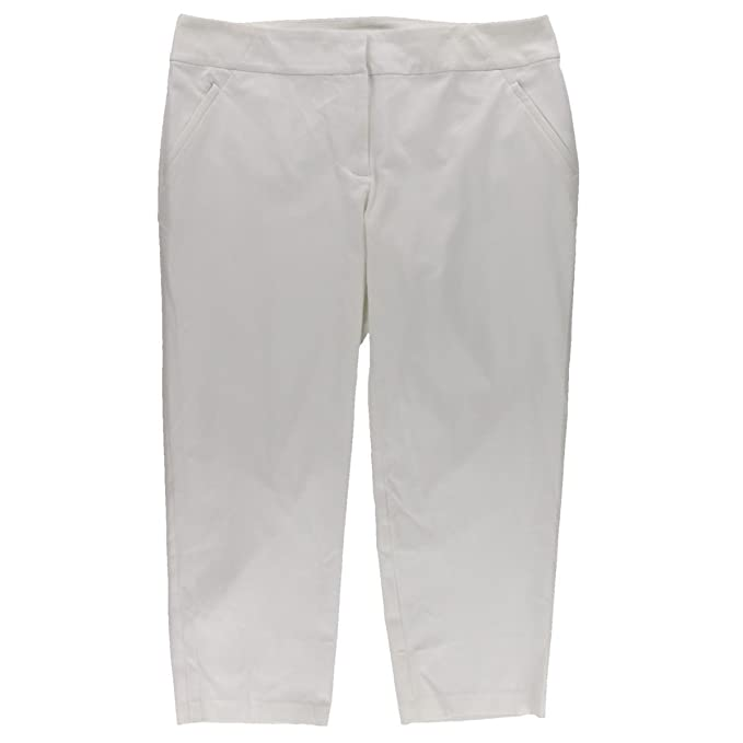 8b414c7249193 Image Unavailable. Image not available for. Color  Charter Club Plus Size  Pants 24W Zip Pocket Ankle Pants White