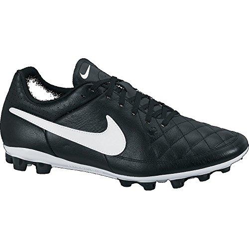 Nike Tiempo Genio 631285010–Zapatillas de fútbol, de piel, negro, Hombre, - nero - nero