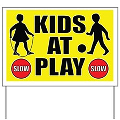 CafePress - Slow Kids At Play Yard Sign - Yard Sign, Vinyl Lawn Sign, Political Election Sign