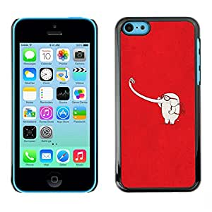 X-ray Impreso colorido protector duro espalda Funda piel de Shell para Apple iPhone 5C - Red White Cute Minimalist
