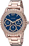GUESS Women's Connect Androidwear Touchscreen Watch with Stainless Steel Strap, Rose Gold, 10 (Model: C1003L4)
