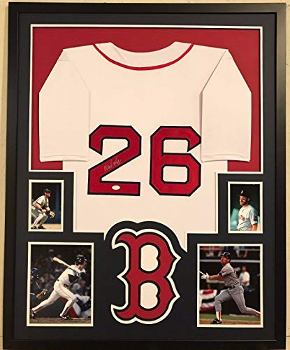 (FRAMED WADE BOGGS AUTOGRAPHED SIGNED BOSTON RED SOX JERSEY JSA COA)