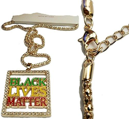 (BUNFIREs Bling Black Lives Pendant Necklace 24