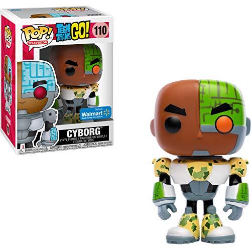 Funko Cyborg (Walmart Exclusive): Teen Titans Go x POP! TV Vinyl Figure & 1 PET Plastic Graphical Protector Bundle [#110 / 32353 - B]